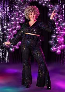 Women's Plus Size Disco Queen Costume Main