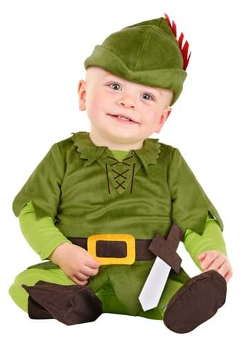 Click Here to buy Peter Pan Baby Costume from HalloweenCostumes, CDN Funds & Shipping