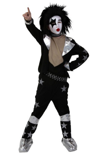 Click Here to buy Kids Screenprint KISS Starchild Costume from HalloweenCostumes, CDN Funds & Shipping