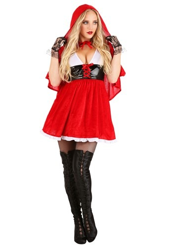 Plus Size Red Hot Riding Hood Costume for Women