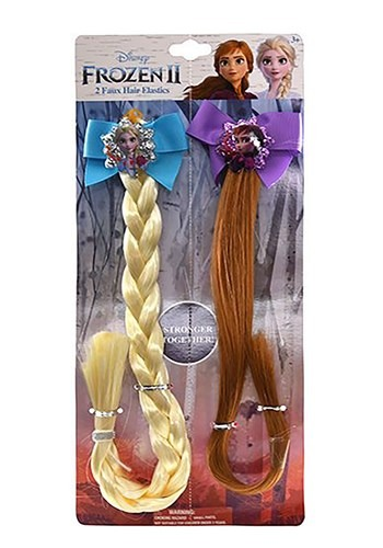 Click Here to buy Frozen 2 Anna & Elsa 2pk Faux Hair Accessory from HalloweenCostumes, CDN Funds & Shipping