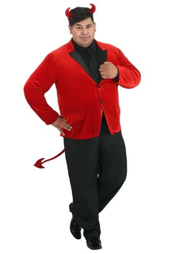 Click Here to buy Dashing Devil Plus Size Mens Costume from HalloweenCostumes, CDN Funds & Shipping