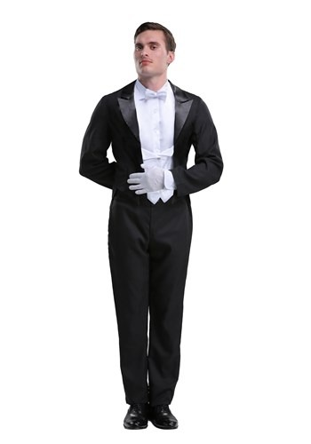 Plus Size Butler Costume for Men