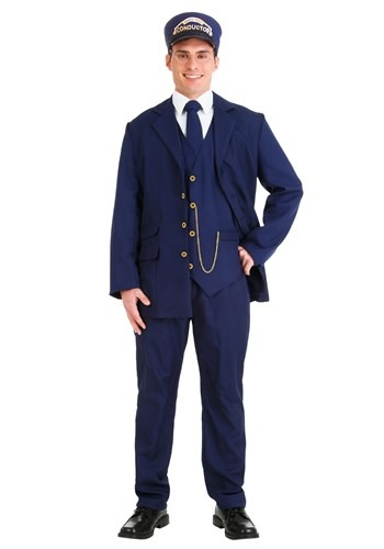 Plus Size North Pole Train Conductor Adult Size Costume