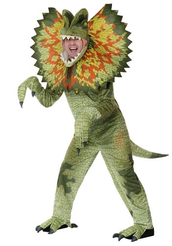 Click Here to buy Adult Dilophosaurus Plus Size Costume from HalloweenCostumes, CDN Funds & Shipping