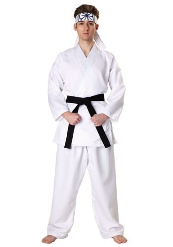 Mens Plus Size Karate Kid Daniel San Costume