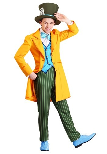 Mens Plus Size Classic Mad Hatter Costume