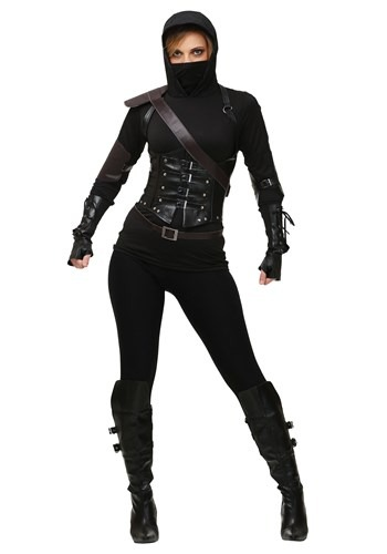 Click Here to buy Plus Size Womens Ninja Assassin Costume from HalloweenCostumes, CDN Funds & Shipping