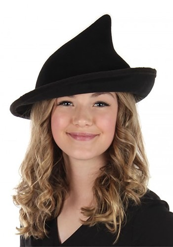 Click Here to buy Black Witch Hat Modern from HalloweenCostumes, CDN Funds & Shipping