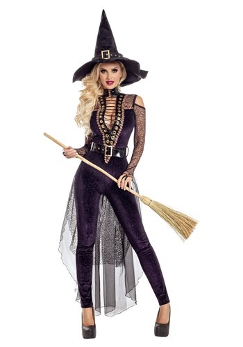 Midnight Violet Witch Womens  Costume