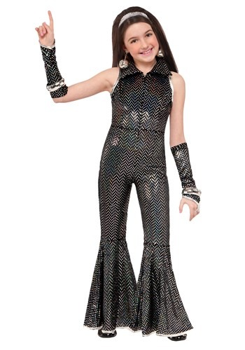 Click Here to buy Dazzling Disco Girls Jumpsuit from HalloweenCostumes, CDN Funds & Shipping