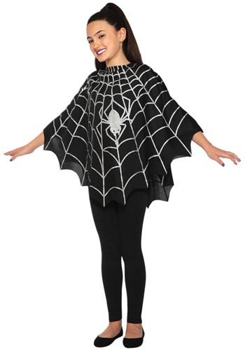 Click Here to buy Black Spider Kids Poncho Costume from HalloweenCostumes, CDN Funds & Shipping