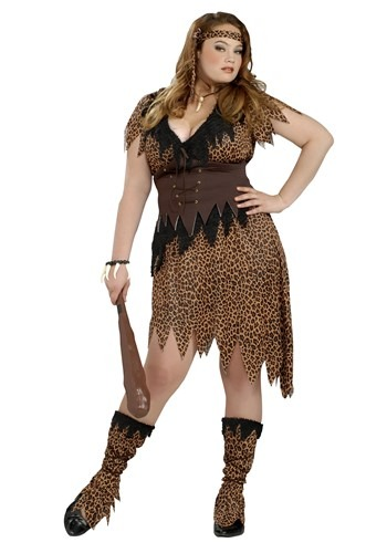 Click Here to buy Plus Size Cave Beauty Womens Costume from HalloweenCostumes, CDN Funds & Shipping