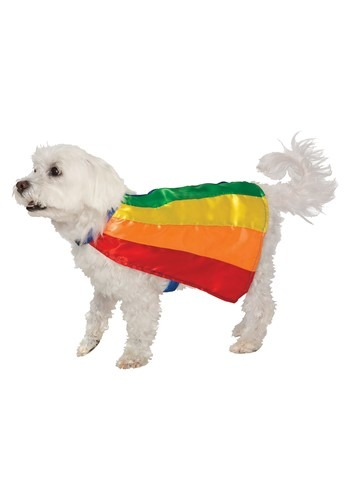 Click Here to buy Rainbow Pet Cape from HalloweenCostumes, CDN Funds & Shipping