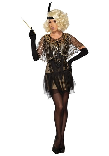 Click Here to buy Black Sequin Flapper Shawl Accessory from HalloweenCostumes, CDN Funds & Shipping