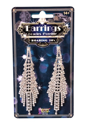 Click Here to buy Roaring 20s Fancy Flapper Costume Earrings from HalloweenCostumes, CDN Funds & Shipping