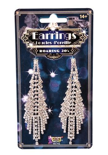 Roaring 20s Fancy Flapper Costume Earrings