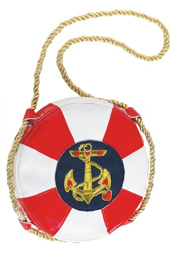 Lady In The Navy Life Preserver Handbag