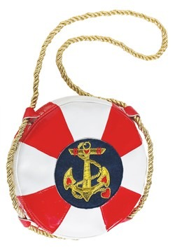 Lady In The Navy Life Preserver Handbag