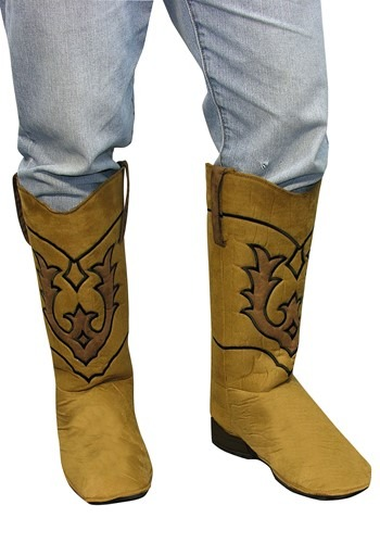 Western Brown Cowboy Adult  Boot Covers