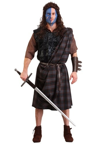 Click Here to buy Mens Braveheart Classic Plus Size Costume from HalloweenCostumes, CDN Funds & Shipping