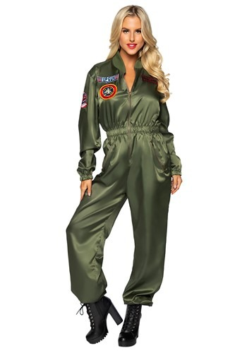 Click Here to buy Womens Top Gun Womens Flight Suit Costume from HalloweenCostumes, CDN Funds & Shipping