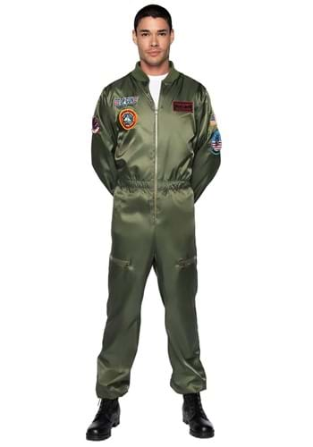 Click Here to buy Top Gun Mens Flight Suit Costume from HalloweenCostumes, CDN Funds & Shipping
