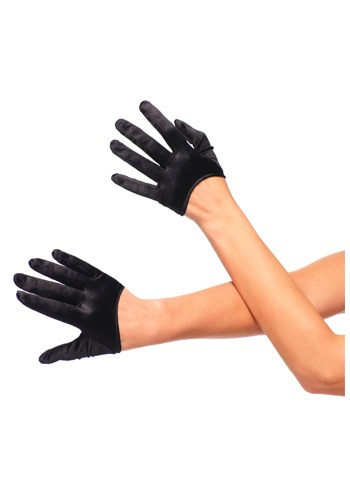 Click Here to buy Black Cropped Satin Gloves from HalloweenCostumes, CDN Funds & Shipping