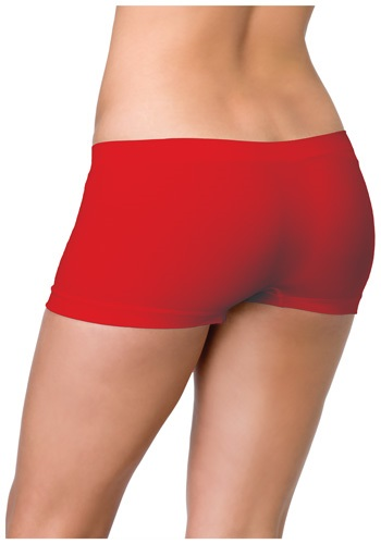 Red Seamless Boyshorts