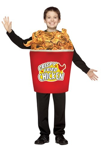 Click Here to buy Bucket of Fried Chicken Kidsrens Costume from HalloweenCostumes, CDN Funds & Shipping