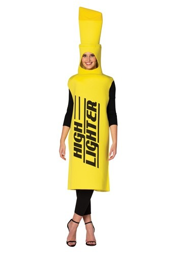Yellow High-Lighter Adult Size Costume