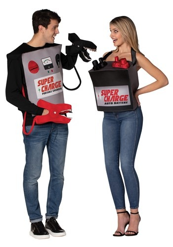 Battery & Jumper Cables Adult Couples Costume