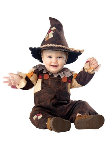 Click Here to buy Happy Harvest Scarecrow Baby  Costume from HalloweenCostumes, CDN Funds & Shipping