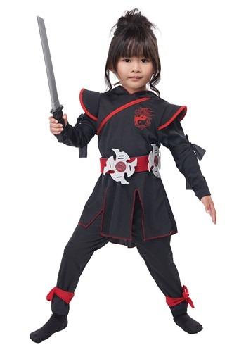 Click Here to buy Girls Lil Ninja Girl Costume from HalloweenCostumes, CDN Funds & Shipping