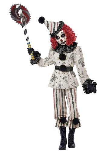 Click Here to buy Creeper Clown Kids Costume from HalloweenCostumes, CDN Funds & Shipping