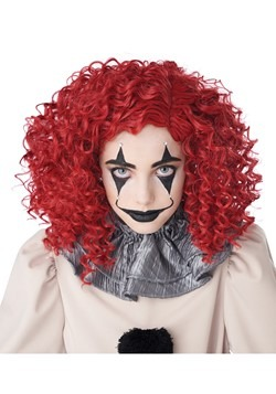 Corkscrew Clown Red Curls Wig