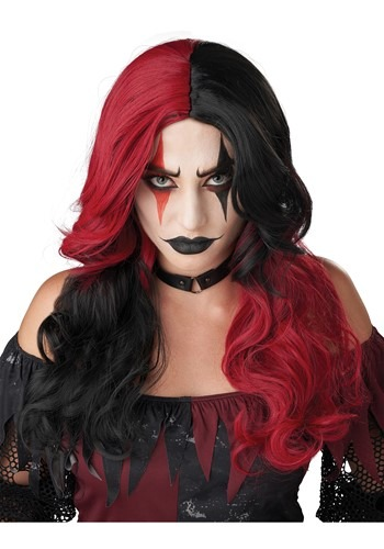 Click Here to buy Womens Psycho Jester Wig from HalloweenCostumes, CDN Funds & Shipping