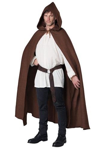 Brown Adult Hooded Cloak Costume