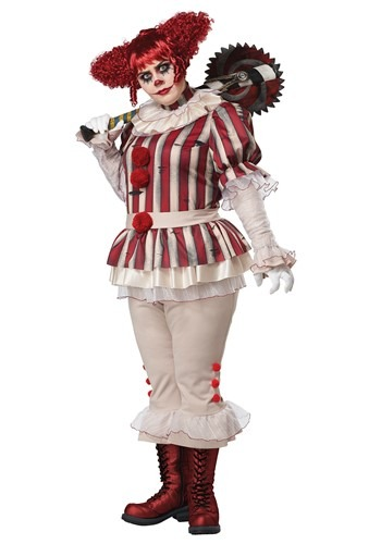 Click Here to buy Plus Size Sadistic Womens Clown Costume from HalloweenCostumes, CDN Funds & Shipping