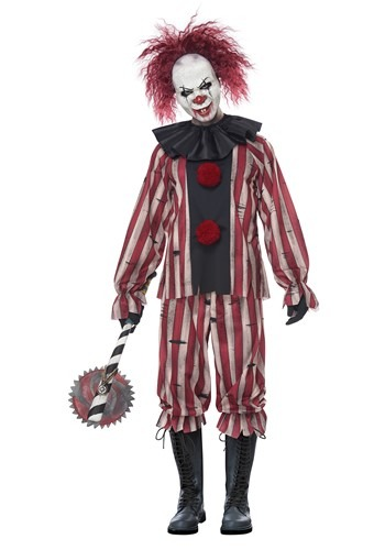 Click Here to buy Plus Size Nightmare Clown Mens Costume from HalloweenCostumes, CDN Funds & Shipping