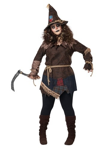 Click Here to buy Womens Creepy Scarecrow Plus Size Costume from HalloweenCostumes, CDN Funds & Shipping