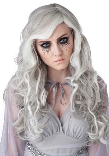 Gray Womens Glow In The Dark Wig