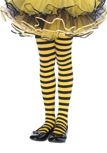 Click Here to buy Kids Black and Yellow Striped Tights from HalloweenCostumes, CDN Funds & Shipping
