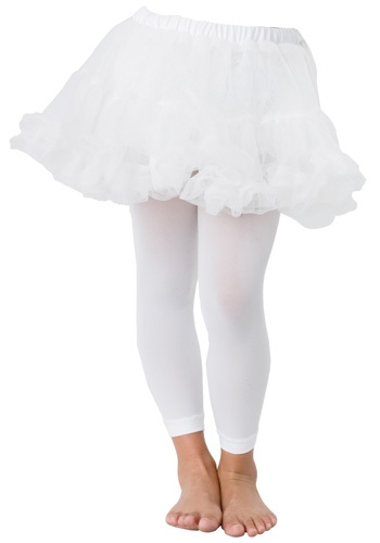 Kids White Petticoat