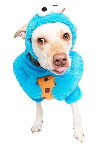 Click Here to buy Pet Sesame Street Cookie Monster Costume from HalloweenCostumes, CDN Funds & Shipping