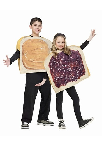 Kids Peanut Butter and Jelly Costume