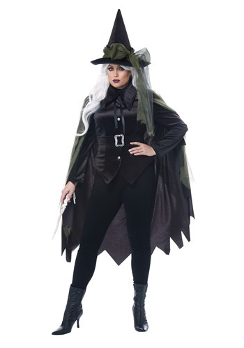 Plus Size Womens Gothic Witch Costume