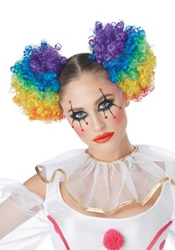 Rainbow Clown Puffs Wig