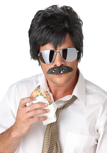 Adult Ace Detective Wig & Mustache Kit