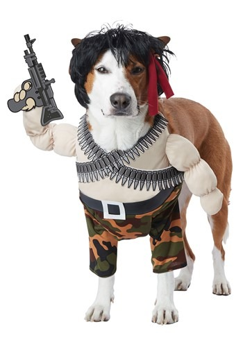 Click Here to buy Pet Action Hero Costume from HalloweenCostumes, CDN Funds & Shipping